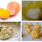 Ácido bórico e gemas de ovo