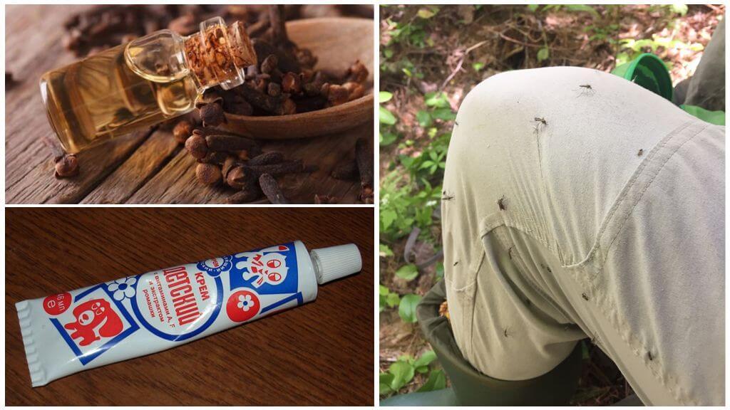 Creme de mosquito com óleo de cravo