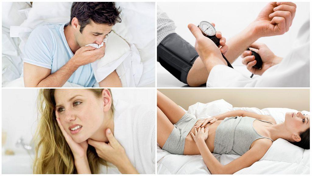 Sintomas da doença após serem picados por um carrapato infectado