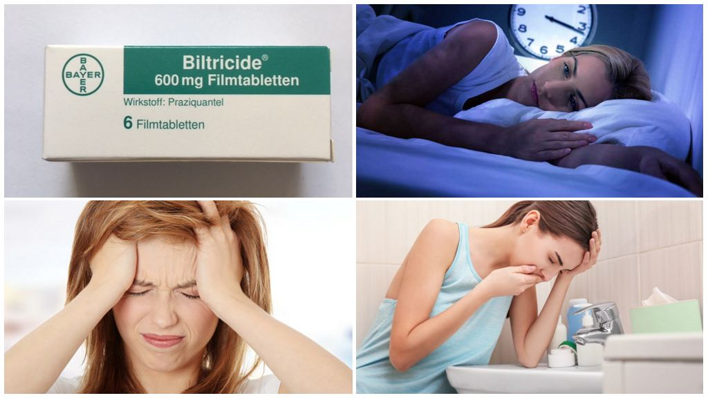Efeitos colaterais de tomar biltricida